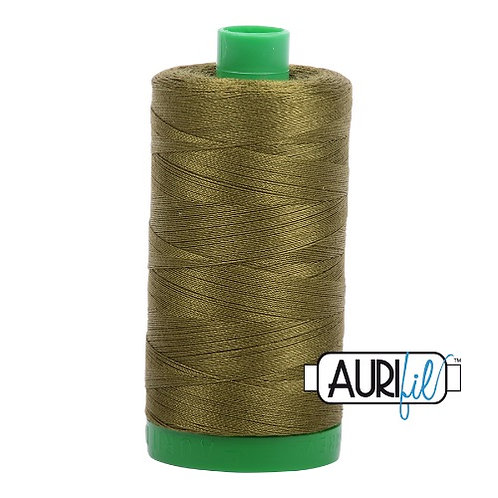 Aurifil 40 1000m 2887 Very Dark Olive Cotton Thread