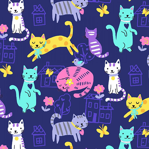 Home Sweet Meow Digitally Printed Fabric