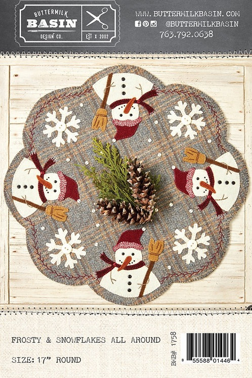 Frosty and Snowflakes All Around Mat Pattern