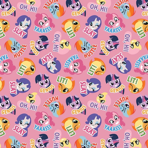 My Little Pony Pink Toss Fabric