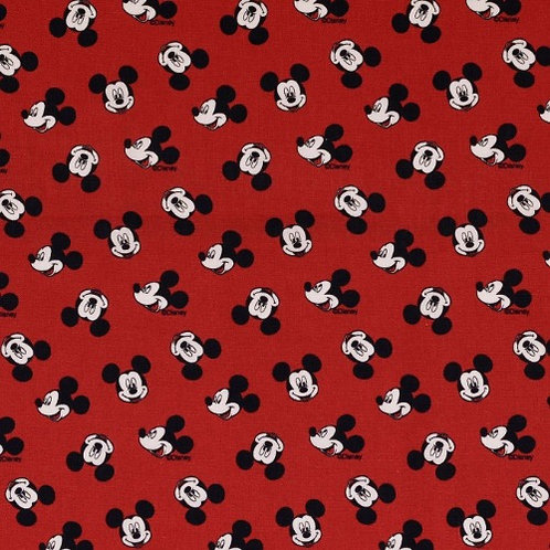 Disney Mickey Mouse Red Heads Fabric