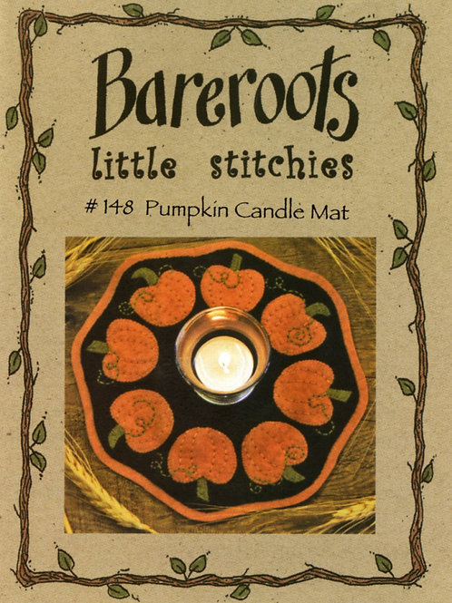 Bareroots Little Stitches Pumpkin Candle Mat Pattern