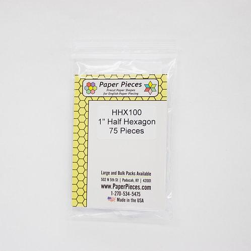 """1"""" Half Hexagons. 75 pcs"""