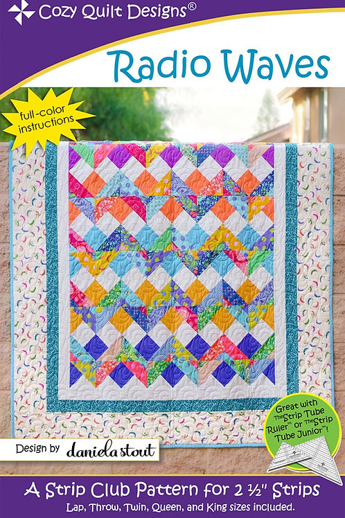 Cozy Quilt Designs Radio Waves Quilt Pattern