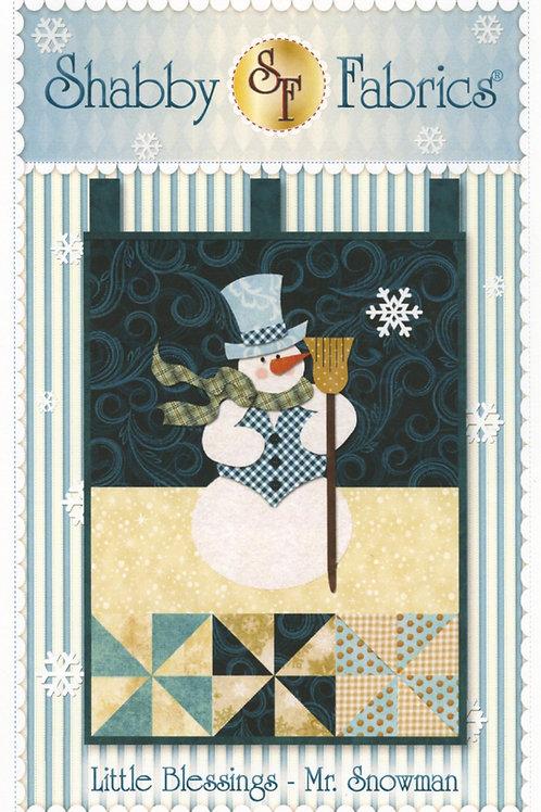 Mr. Snowman Village Wall Hanging Pattern