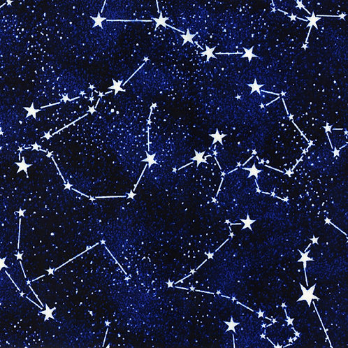 Timeless Treasures Midnight Glow in the Dark Constellations Fabric
