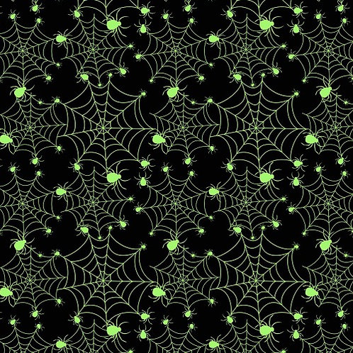 Glowing Spiders Fabric