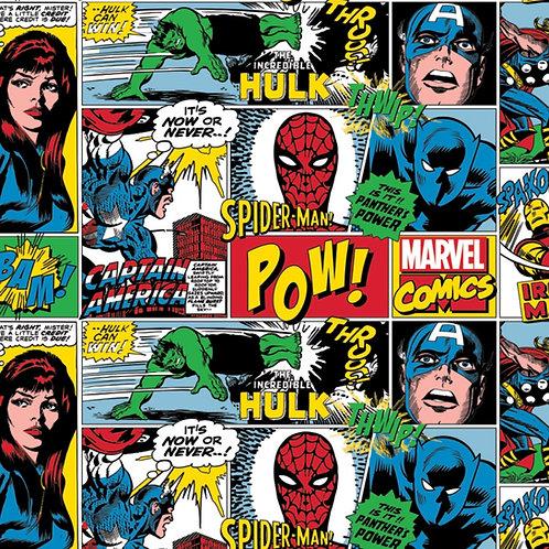 FLANNEL - Marvel Action Around Fabric