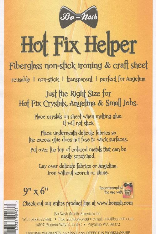 Bo Nash Hot Fix Helper Clear Protective Sheet 9in x 6in