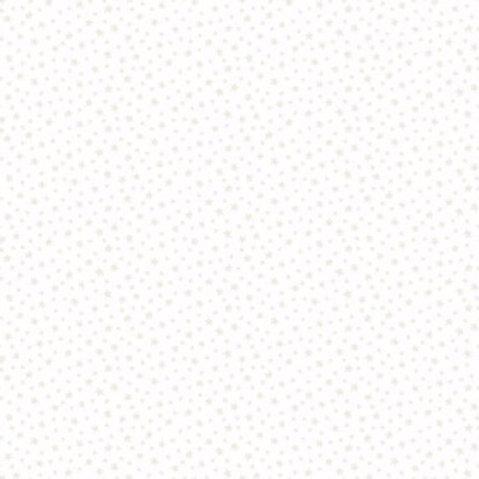 Makower Star White on White Fabric 306/W1