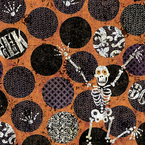 Skeleton Dot Halloween Fabric