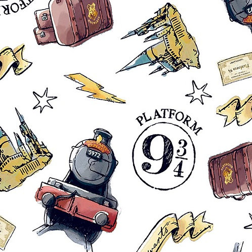 Harry Potter 9  and 3/4 Fabric