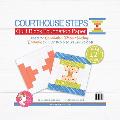 Courthouse Steps Quilt Block 12in Foundation Paper Pad
