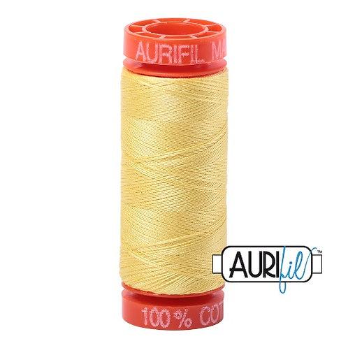 Aurifil 50 200m 2115 Cotton Thread Lemon