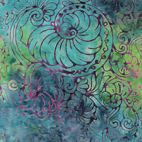 Island Batik Mystery - Nautilus Floral Baja