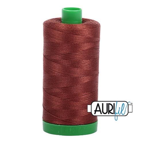 Aurifil 40 1000m 4012 Copper Brown Cotton Thread