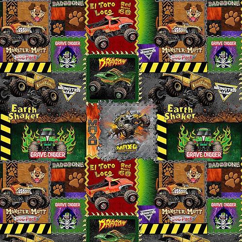 Monster Jam Monster Truck Patch Fabrics