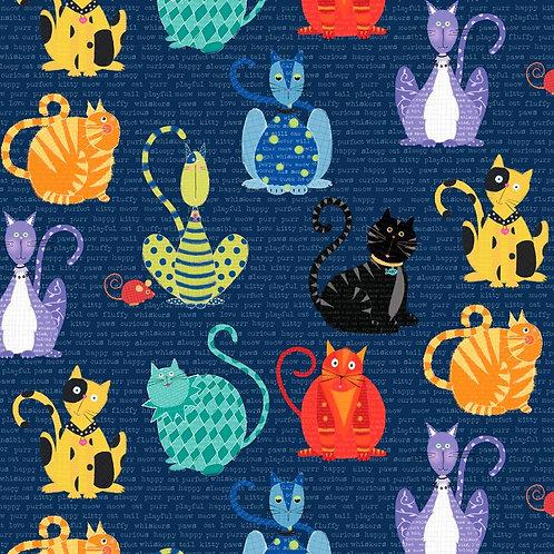 Feline Good Large Cat Fabric