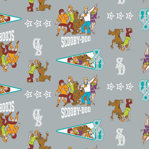 Scooby Doo 2 Mystery Incorporated Fabric - Grey