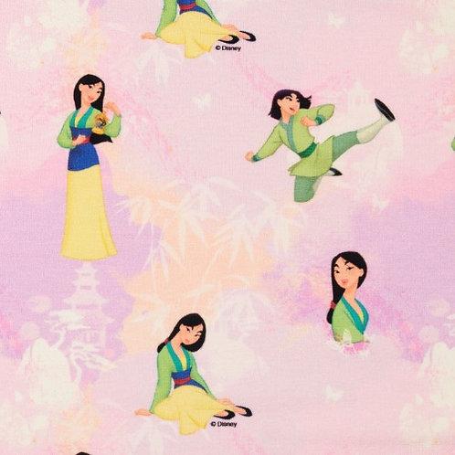 Disney Mulan Characters Jersey Fabric