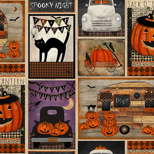 Spooky Night Patchwork Fabric