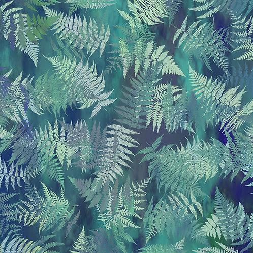 Garden of Dreams Fabric - Dusky Teal