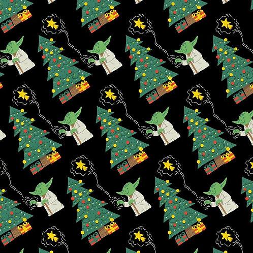 Star Wars Yoda Force Trim The Tree Christmas Fabric
