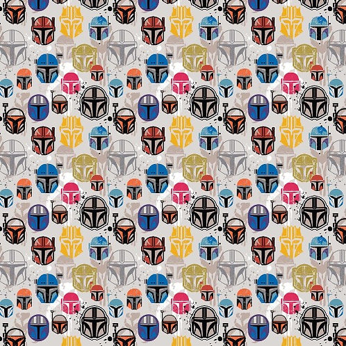 Star Wars Mandalorian Helmets Fabric