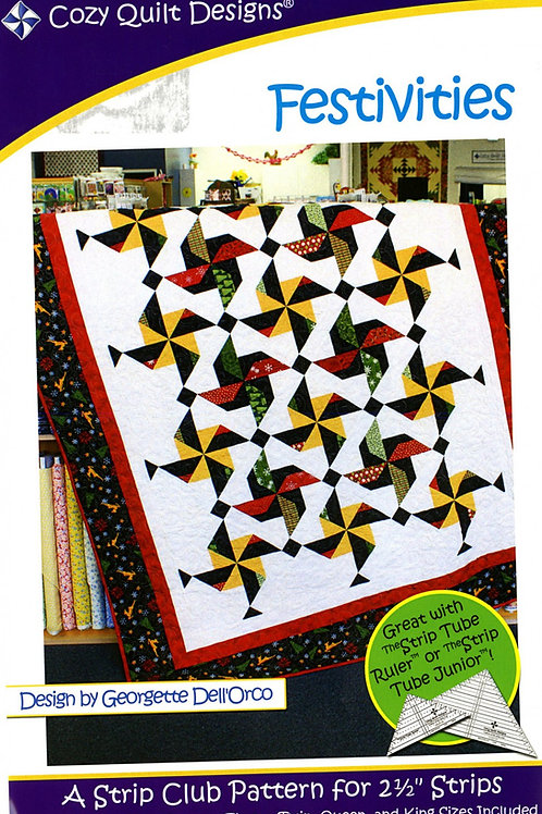 Cozy Quilt Designs Festivities Quilt Pattern