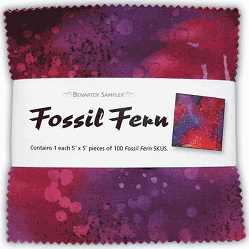 "Benartex Fossil Fern 5"" Charm Pack 100 Pieces"