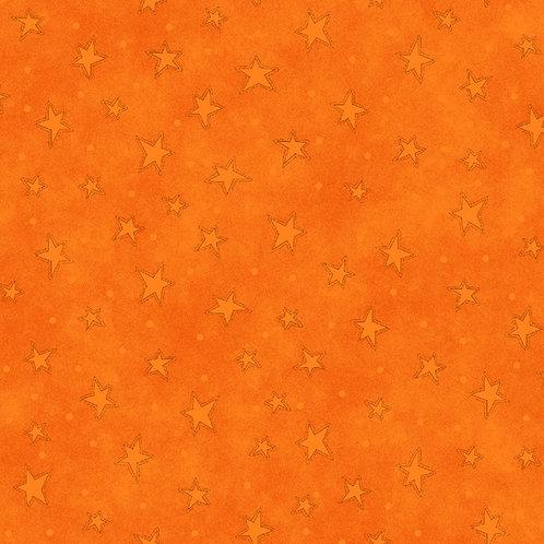 Tangerine Starry Fabric