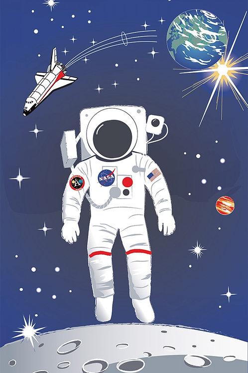 Nasa Astronaut Panel 24in x 40in Panel
