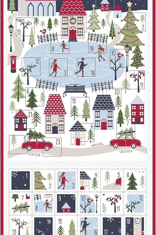 Christmas Village Advent Panel