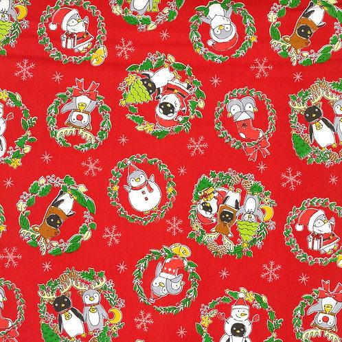 Red Costume Animal Christmas Fabric Cotton Oxford