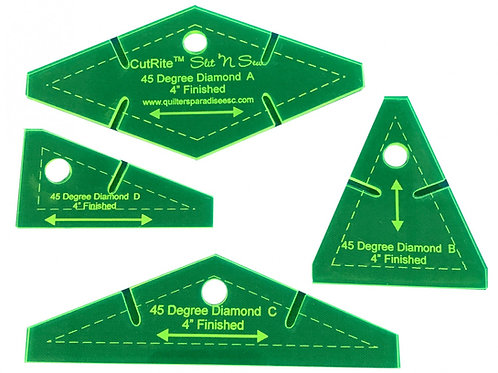 CutRite Slit N Sew 45 Degree Diamond 4 Inch Finished Template