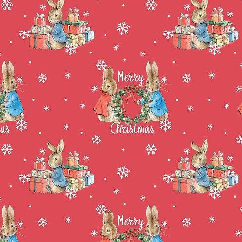 Merry Christmas Peter Rabbit Christmas Fabric