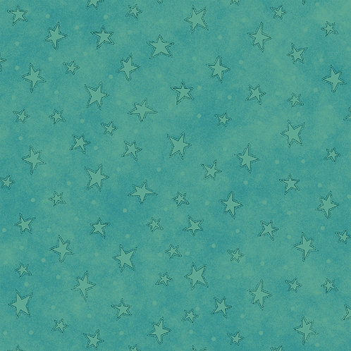 Teal Starry Fabric