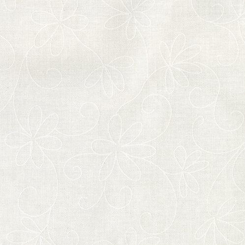 Maywood Soft White Loopy Daisy Fabric 215 - SW