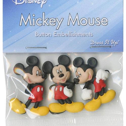 Disney Mickey Mouse Button Embellishments