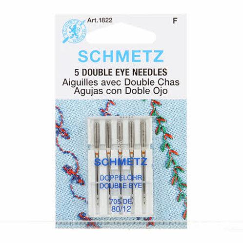 Schmetz Double Eye Needles 5 Pack