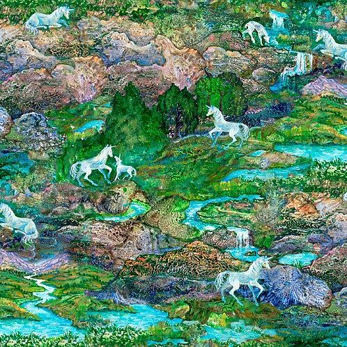 Celestial Journey Landscape Fabric