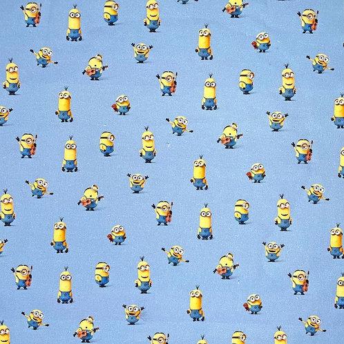 Blue Minions Fabric