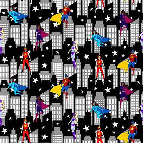 Blank Quilting Superhero City Scene Fabric