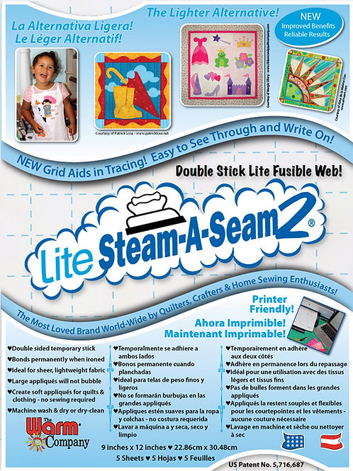 Steam A Seam Lite 2 Sheets 9in x 12in - 5 pcs