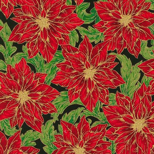 Holiday Flourish Flower Holiday with metallic Fabric