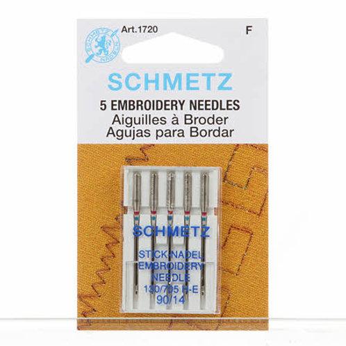 Schmetz Embroidery Needles size 90/14