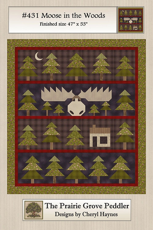 Moose in the Woods Quilt Pattern