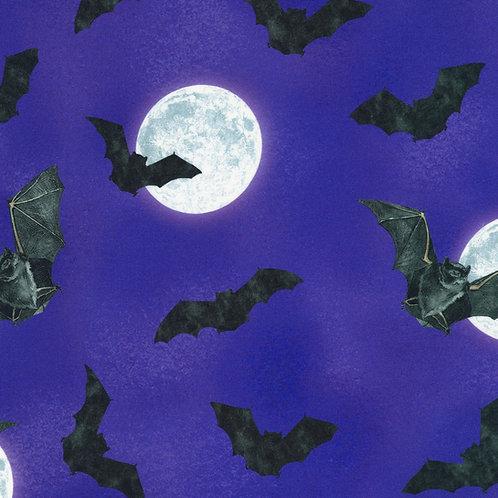 Gumdrop Raven Moon Bats and Moon Fabric