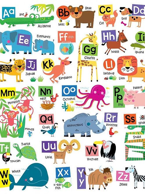 Animal Alphabet Panel