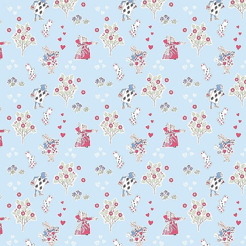Alice in Wonderland Queen of Hearts Fabric